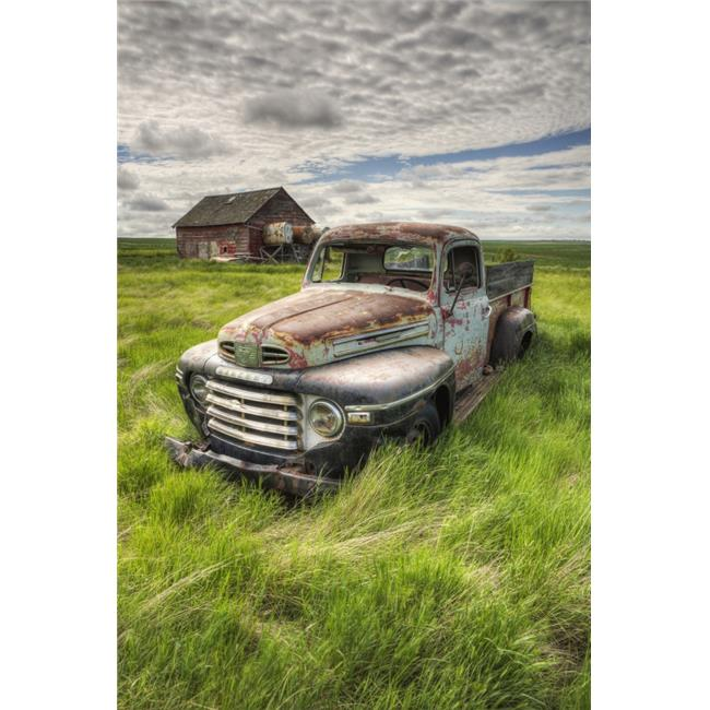 Hdr Image of An Abandoned Truck in A Rural Area - Saskatchewan Canada Poster Print - 12 x 18 in. - image 1 de 1