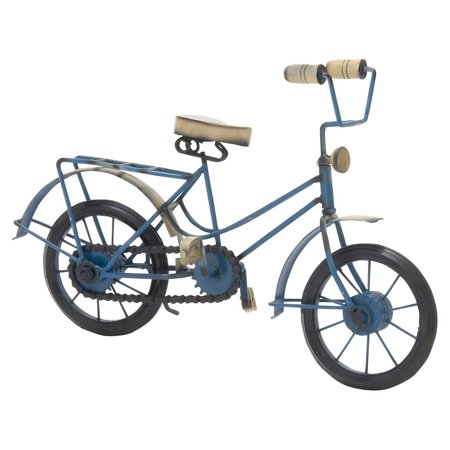 Metal Wood Blue Bicycle