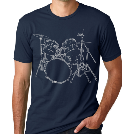 Think Out Loud Apparel Drums T-shirt Artistic design Drummer Tee (Best Design Of Clothes)
