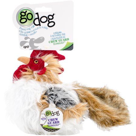 707602 goDog Rooster Ball with Chew Guard 7