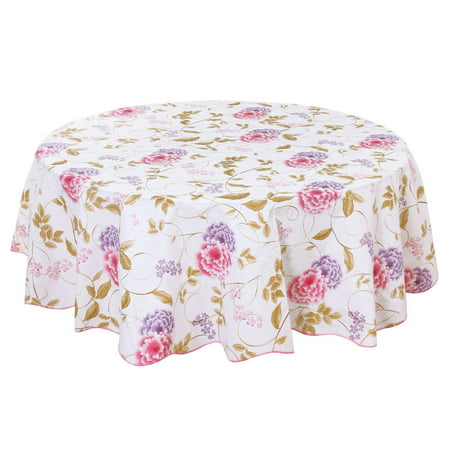 60 Inch Round Tablecloth (PVC Tablecloth for Round Tables 60