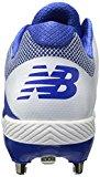 New Balance Men's L4040v4 Metal Baseball Shoe, Royal/White, 7 D US