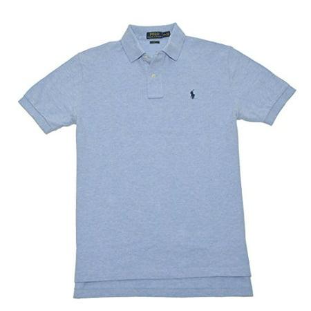 Polo Ralph Lauren Men Custom Fit Mesh Pony Logo Shirt (S,