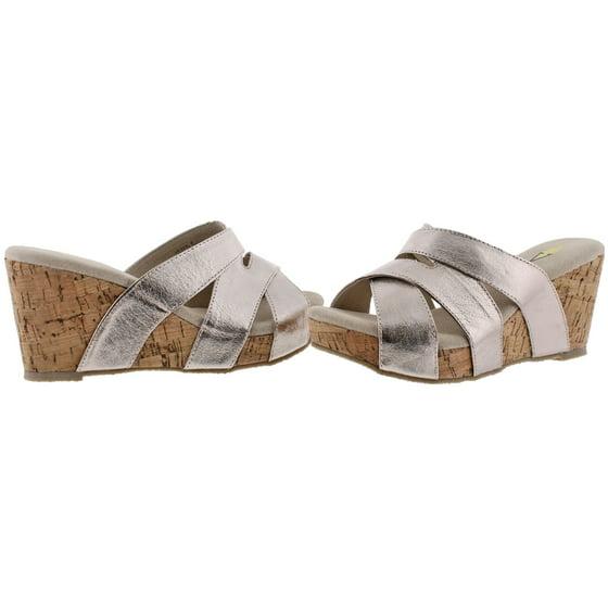 58da3a73d36c5 Volatile - Volatile Leona Women s Slide Cork Wedge Sandals Size 7 ...