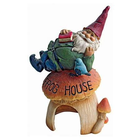 Design Toscano Gnome's Frog House Garden Statue