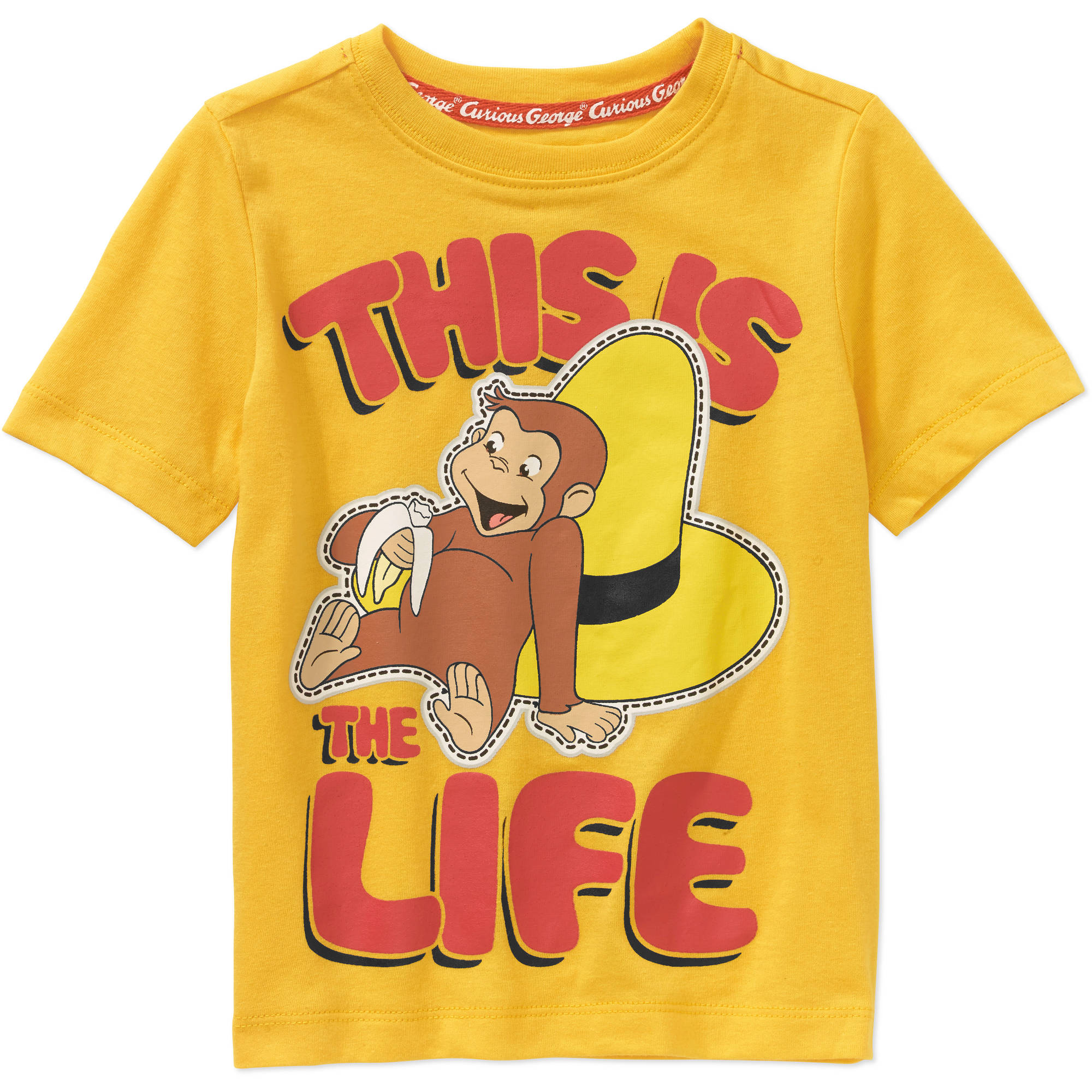 Curious George Toddler Boys' This Is The Life Graphic Tee Shirt