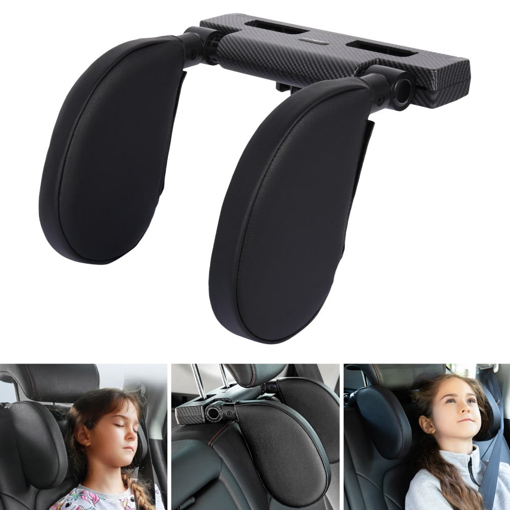 Compatible with Most Cars for Road Trip Travel Grey 1 Pcs Car Seat Belt Pillow Soft Sleeping Neck Support Cushion Protect Kids Shoulder and Head