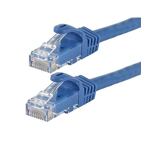 Monoprice Flexboot Cat6 Ethernet Patch Cable - Network Internet Cord - RJ45, Stranded, 550Mhz, UTP, Pure Bare Copper Wire, 24AWG, 5ft, Blue