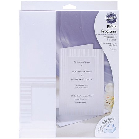 Wilton Print Your Own Bi Fold Programs Kit  50 Ct  1008 561