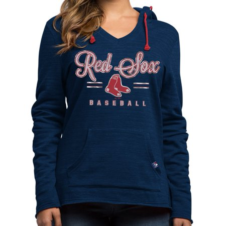 "Boston Red Sox Womens Majestic MLB ""Chase The Dream"" Hooded Sweatshirt by"
