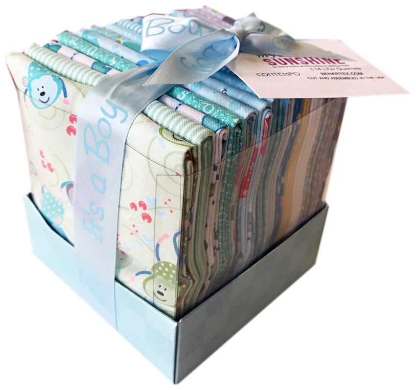 Benartex My Little Sunshine Boy Fat Quarter Bundle Box 14 Precut Fabric Quilting FQs Cherry Guidry FQBOYBX