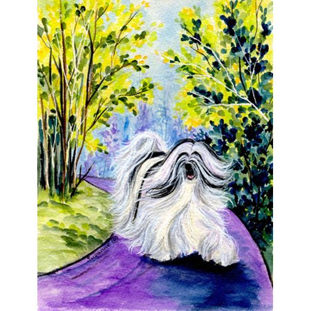 Caroline's Treasures Tibetan Terrier 2-Sided Garden Flag