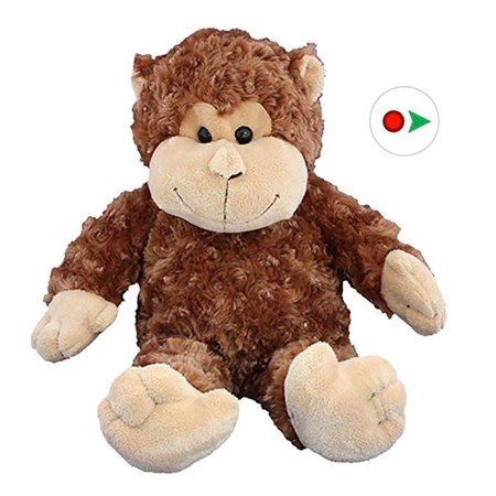 Record Your Own Plush 16 inch Stuffed Monkey - Ready To Love In A Few Easy Steps (Monkeyin Around)