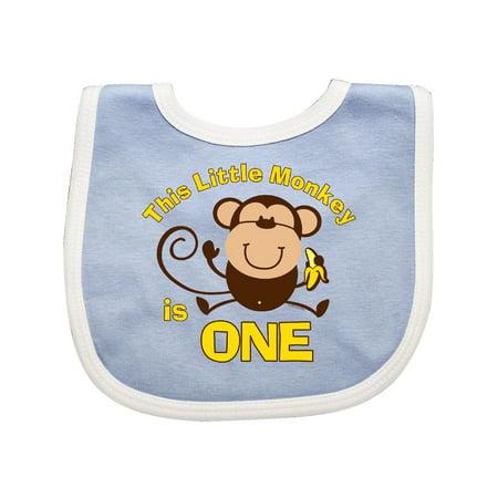 Little Monkey 1st Birthday Boy Baby Bib for $<!---->