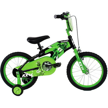 16 Kawasaki Boys Bike With Training Wheels