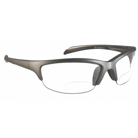 Bifocal Safety Glasses with Polycarbonate Clear Lens +1.5 Power (Safety Glasses With Bifocals)