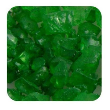 Sandtastik Ice10Lbgrn Sandtastik Ice Real Glass Gems Table Scatters & Vase Filler Green - 10 Lb - Green Glass Vases