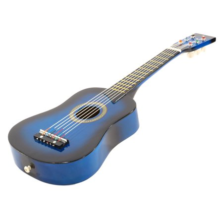 25 children 39 s kids toy acoustic guitar blue with bag and accessories. Black Bedroom Furniture Sets. Home Design Ideas
