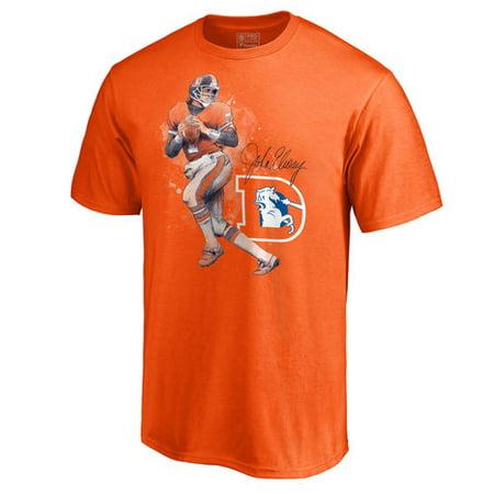 Men's NFL Pro Line John Elway Orange Denver Broncos Retired Player Illustration Name & Number T-Shirt](Happy Halloween Denver Broncos)