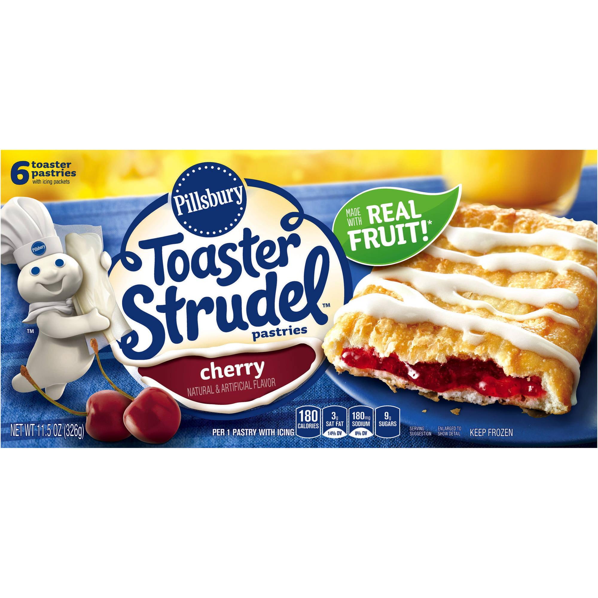 Pillsbury Toaster Strudel Pastries Cherry - 6 CT