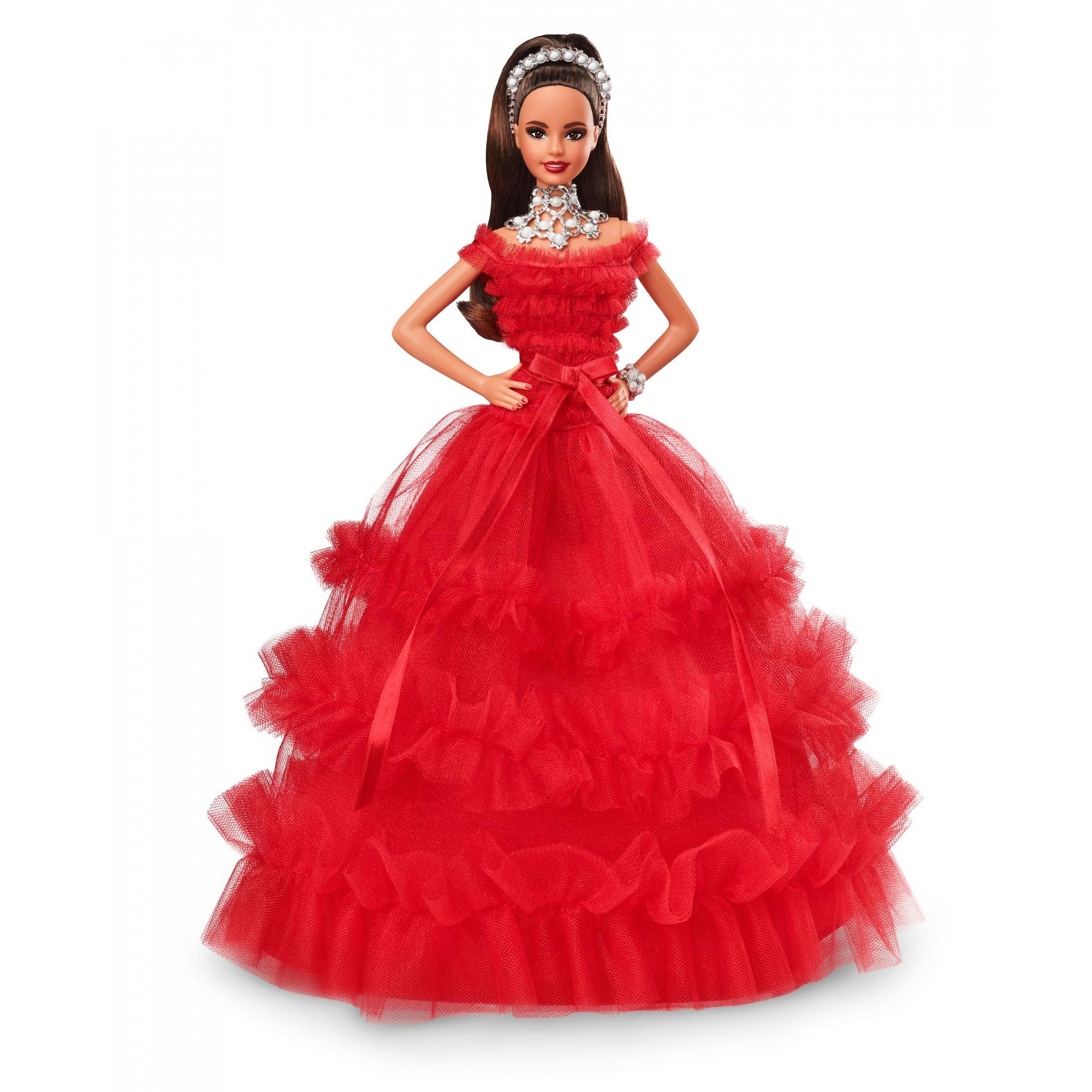 2018 Holiday Collector Barbie Signature Teresa Doll with Stand