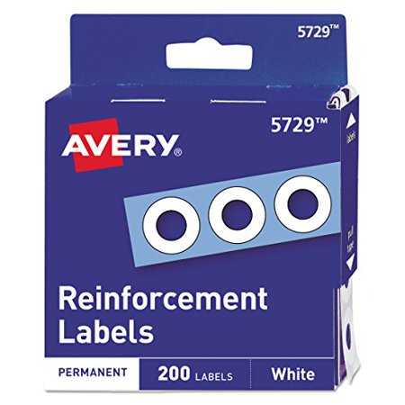 Avery Hole Reinforcements - Avery 05729 Dispenser Pack Hole Reinforcements, 1/4
