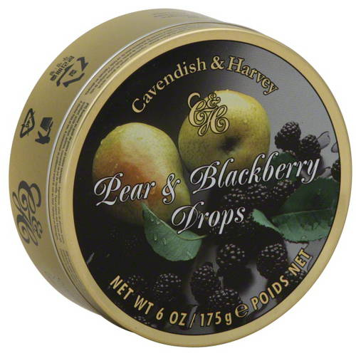 Cavendish & Harvey Pear & Blackberry Drops, 6 oz  (Pack of 12)