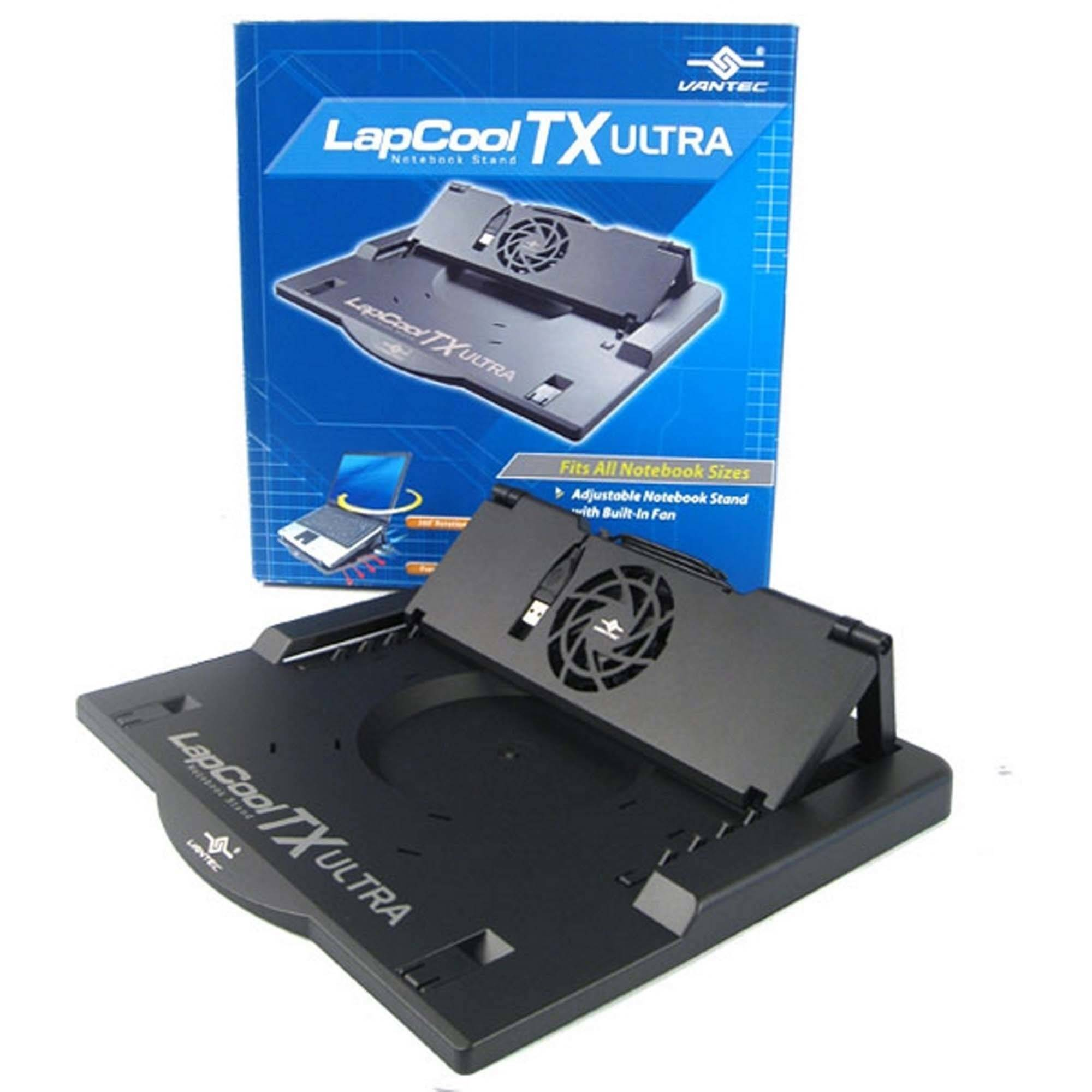 Vantec LPC-460TX LapCool TX Ultra-Adjustable NB Stand with Built-in Fan, Black