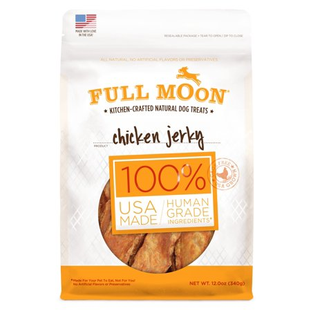Full Moon All Natural Human Grade Dog Treats, Chicken Jerky, 12 Ounce