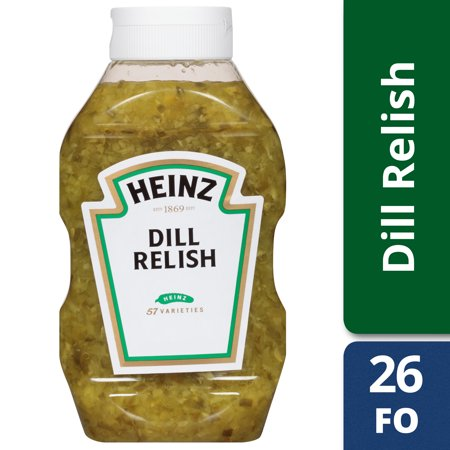 (2 Pack) Heinz Dill Relish, 9 - 26 fl oz Bottles