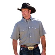 Cinch Western Shirt Mens S/S Athletic Pockets Vent Gray MTW1707004
