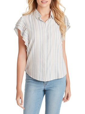 Zaylee Double Ruffle Shirt