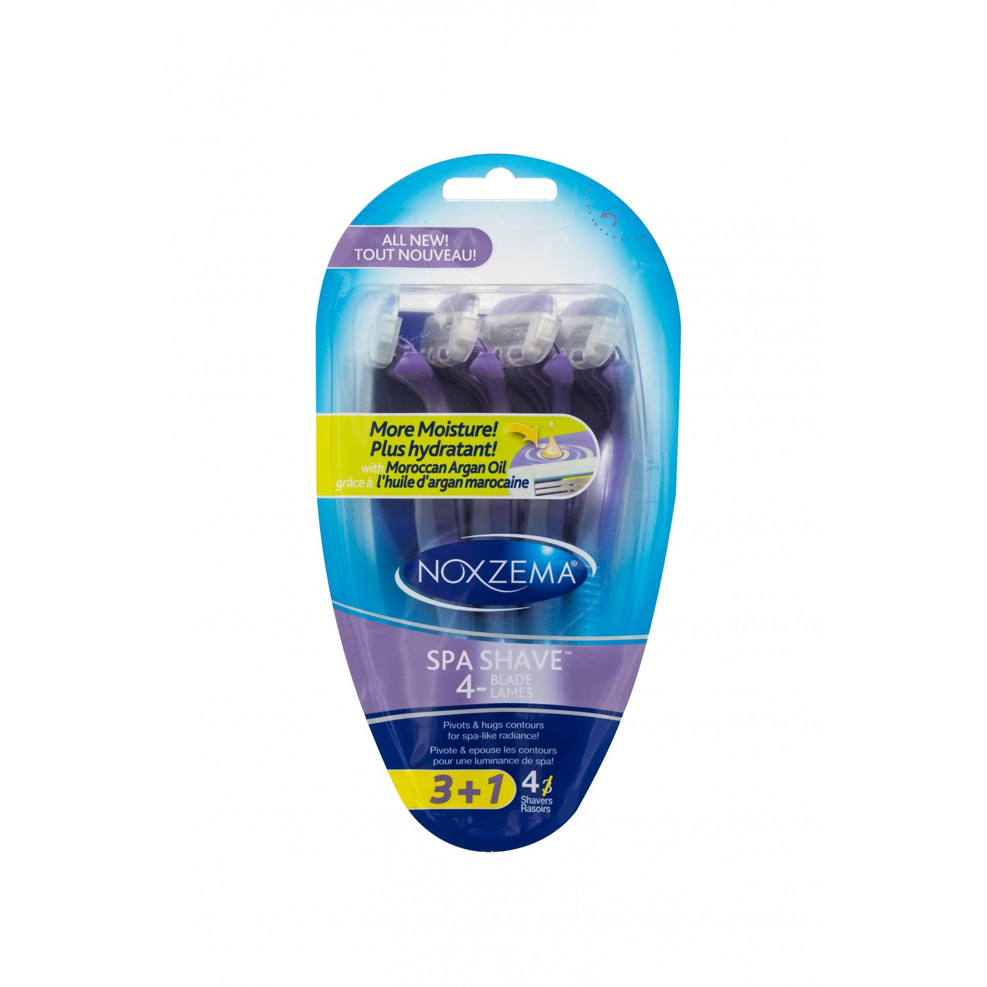Noxzema Spa Shave 4-Blade Disposable Razor, 4 Ct
