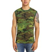 Rothco Men's Camouflage Muscle T-Shirt, Camo, Large