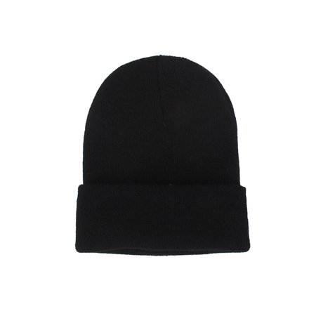 313eed412 Unisex Fashion Casual Solid Knit Hats Beanie Hat Winter Warm Cap ...