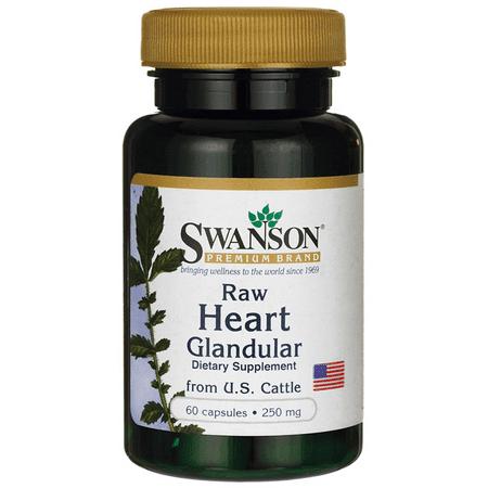 Swanson Raw Heart Glandular 250 mg 60 Caps