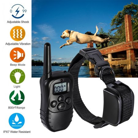 Pet Dog Training Collar Waterproof Rechargeable Electric LCD 100LV Remote Shock Control Static