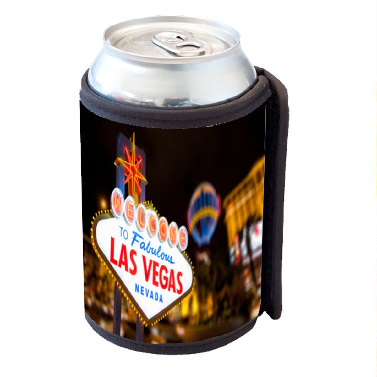 KuzmarK Insulated Drink Can Cooler Hugger - Fabulous Las Vegas