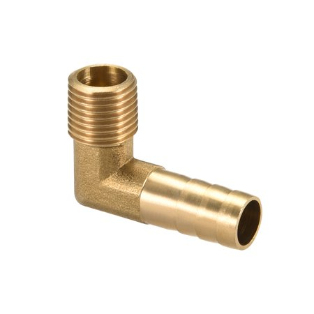 "Brass Barb Hose Fitting 90 Degree Elbow 10mm Barbed x 1/4"" G Male Pipe - image 5 of 5"