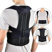 Phoebecat Posture Corrector for Women & Men, Adjustable Shoulder Back Brace for Slouching & Hunching, Black Invisible Back Support for Back Pain Relief, S-XXXXL