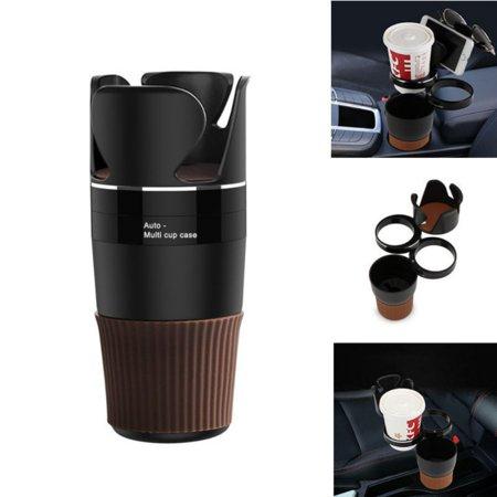 Adjustable Car Cup Holder Multifunctional 360 Degree Rotation Drink Bottle Phone Glasses Auto Vehicle Storage