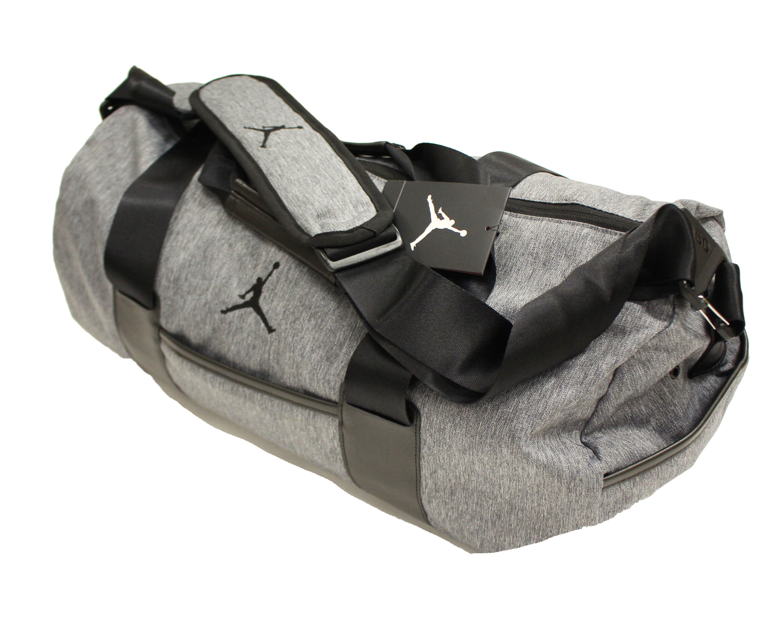 c3c937acc5e1 NIKE AIR JORDAN UNSTRUCTURED DUFFEL BAG DARK HEATHER GREY BLACK BA8064 063  - Walmart.com