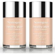 2 Pack -Neutrogena Healthy Skin Liquid Makeup Foundation, Broad Spectrum Spf 20, 80 Medium Beige, 1 Oz.