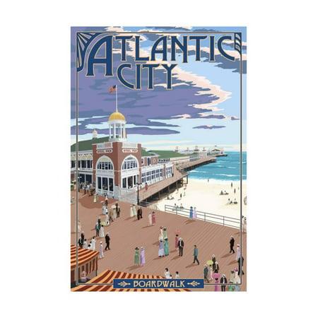 Atlantic City, New Jersey - Boardwalk Print Wall Art By Lantern Press
