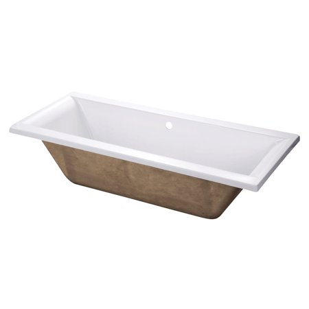 Wood Soaking Tub (Kingston Brass VTPN672817C Aqua Eden 67