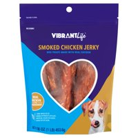 Vibrant Life Smoked Chicken Jerky Dog Treats, 16 oz