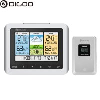 DG-TH8888Pro Wireless Weather Station with Outdoor Sensor ,Large LCD Screen,Thermometer Humidity Indoor & Outdoor (C/F) Forecast Sensor Clock