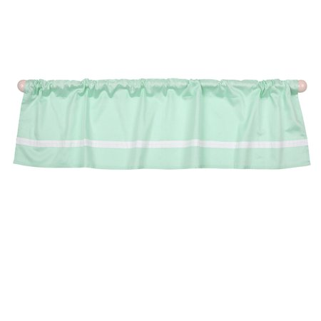 Mint Green Tailored Window Valance by - 100% Cotton Sateen, The Peanut Shell Window Valance features a tailored rod pocket design in mint green sateen with.., By The Peanut Shell Ship from US