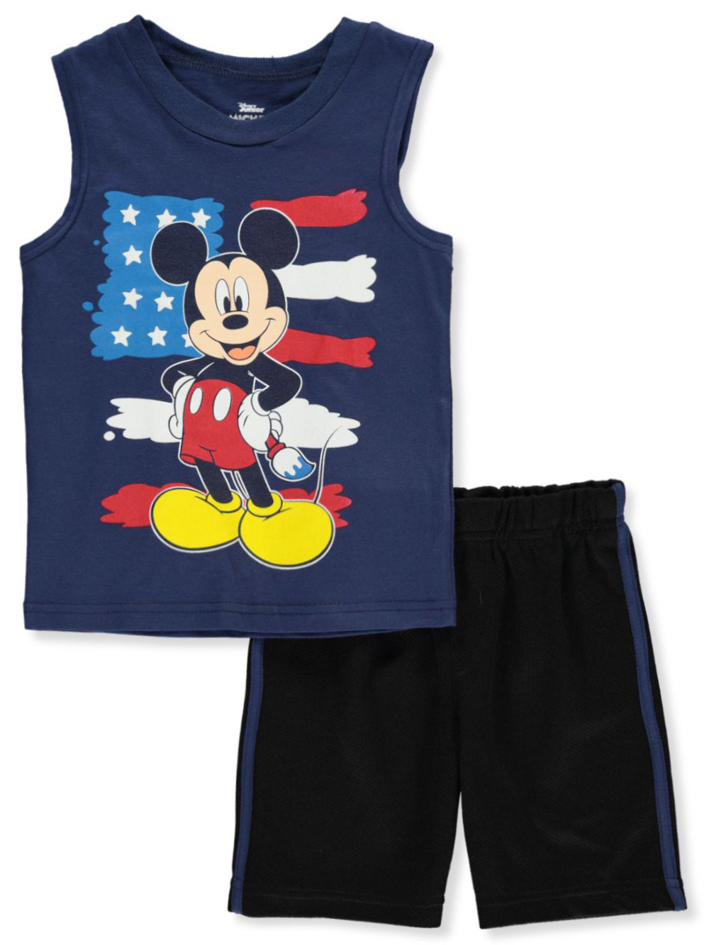 Disney Mickey Mouse Sleeveless Tee and Knit Short Set for Baby Boys 3-6 Months