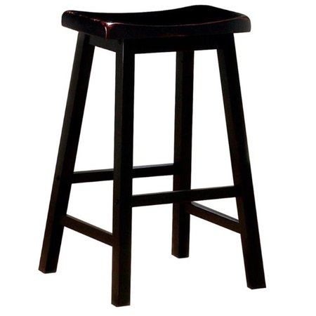 Outstanding Bowery Hill 29 Wooden Backless Bar Stool In Black Gmtry Best Dining Table And Chair Ideas Images Gmtryco